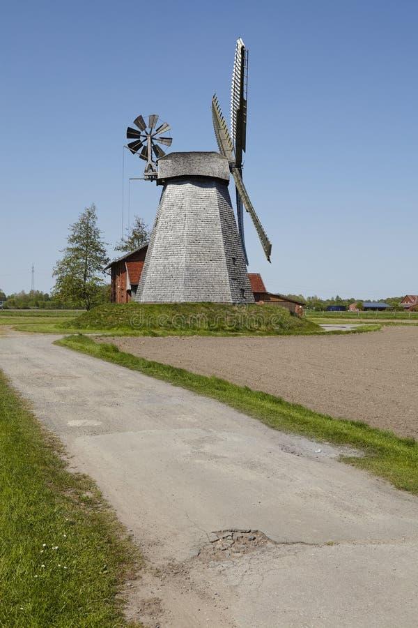 Windmolen Bierde Petershagen, Duitsland royalty-vrije stock foto's