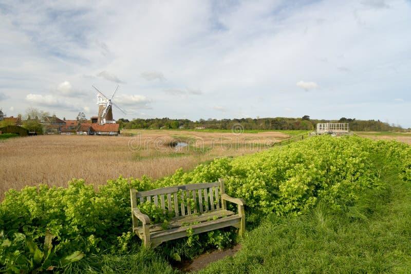Windmolen bij cley-volgende-de-Overzees, Norfolk stock foto