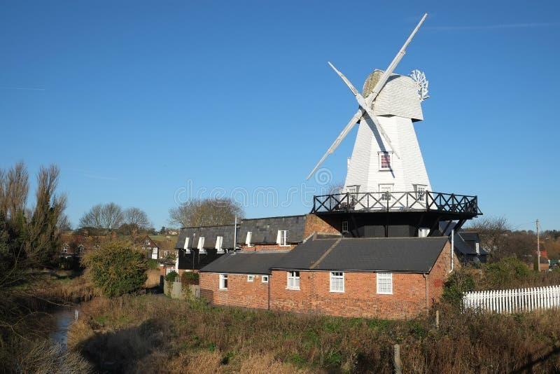 Windmolen bij Rogge, Oost-Sussex, het UK stock foto's