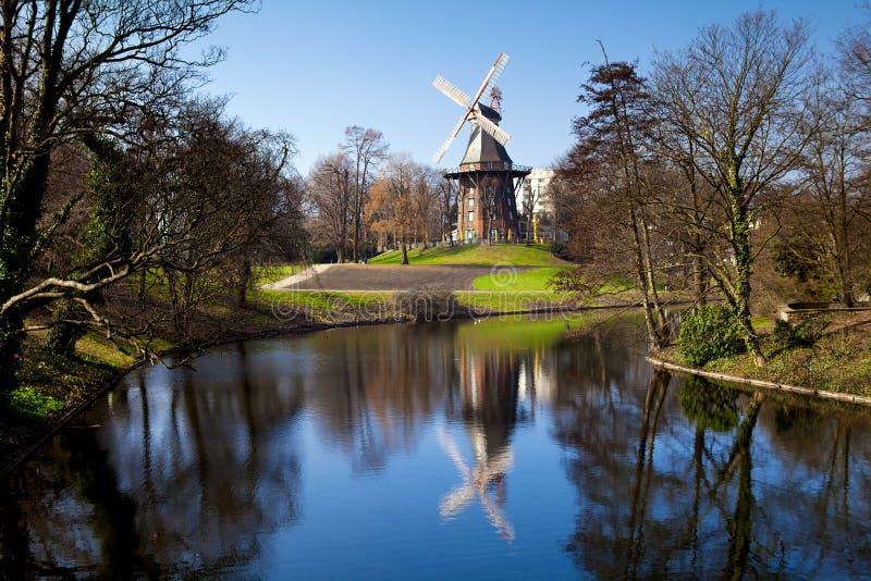 Windmolen in Bremen stock foto's