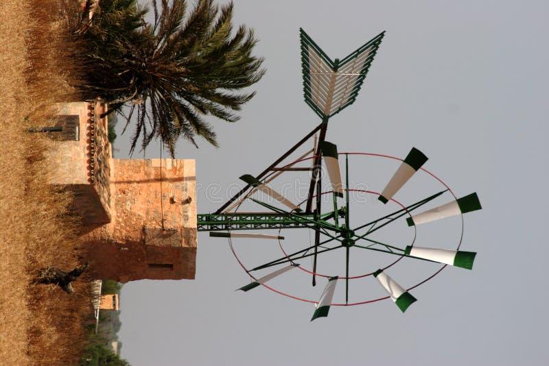 Windmolen campos stock afbeeldingen