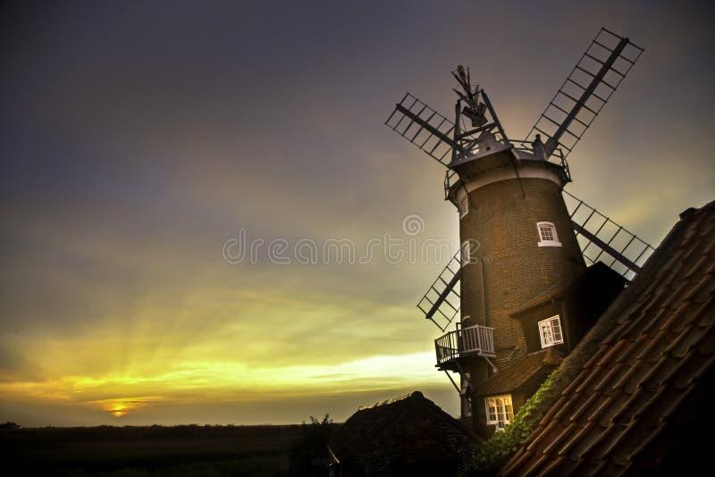 Windmolen in Cley daarna het Overzees royalty-vrije stock afbeelding
