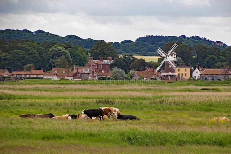 Windmolen in Cley door het Overzees royalty-vrije stock afbeelding