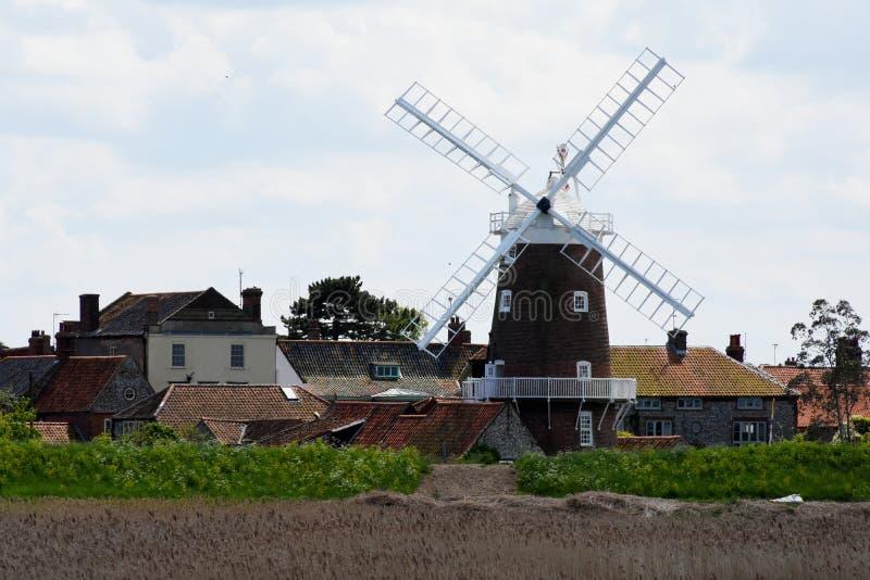 Windmolen, cley-volgende-aan-Overzees, Norfolk stock foto
