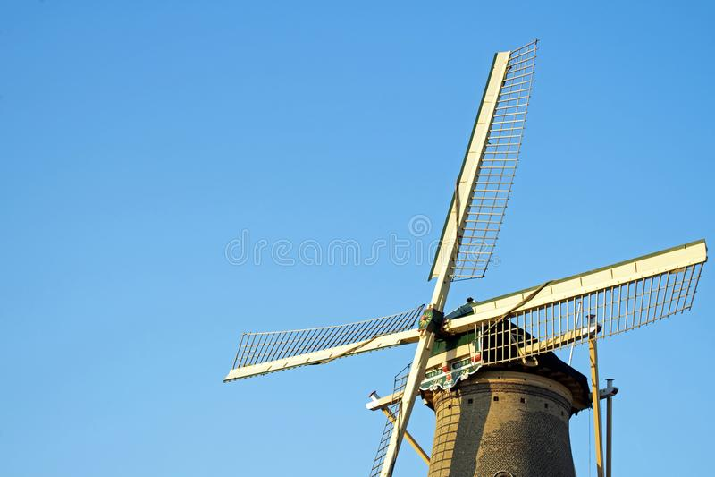 Windmolen, Delft, Nederland stock afbeelding