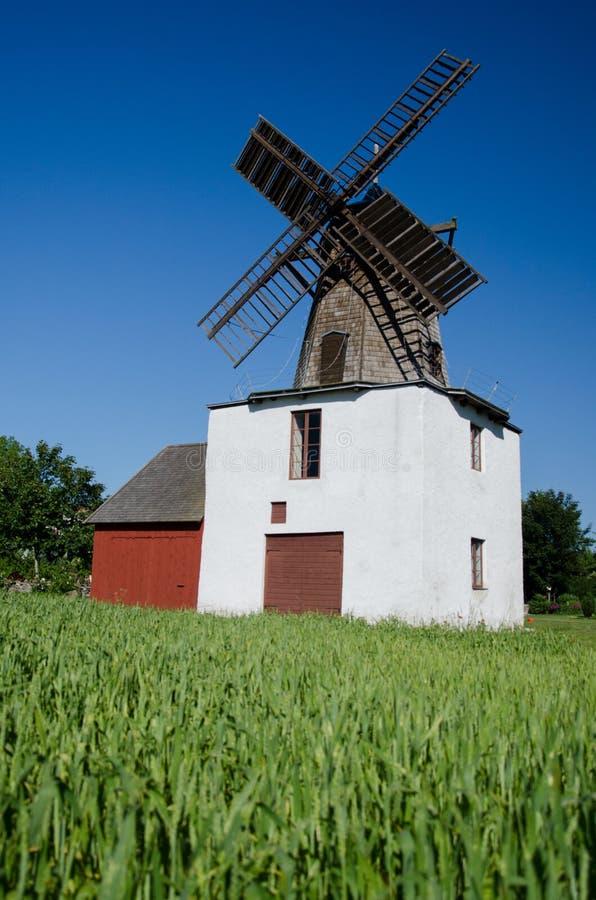 Windmolen - Gotland royalty-vrije stock afbeeldingen