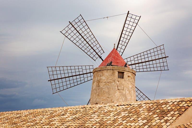 Windmolen in het Museum van Zout royalty-vrije stock afbeeldingen