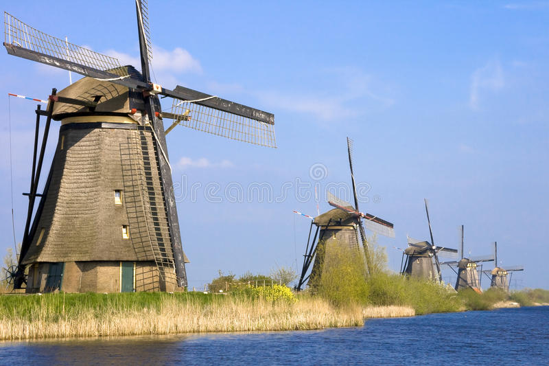 Windmolen Holland stock foto's