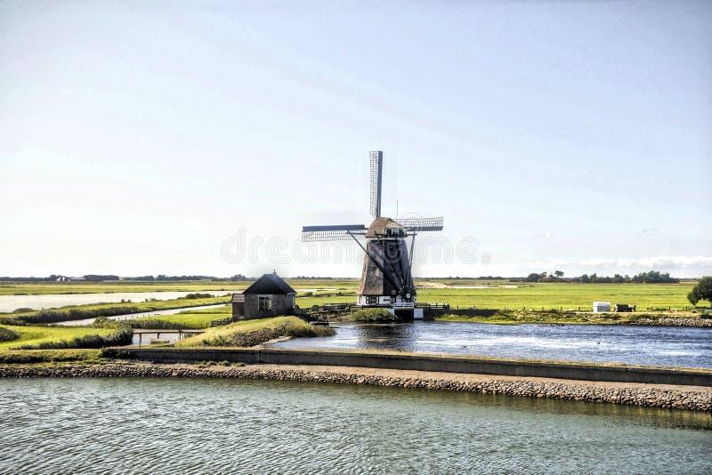 Windmolen in Holland stock foto