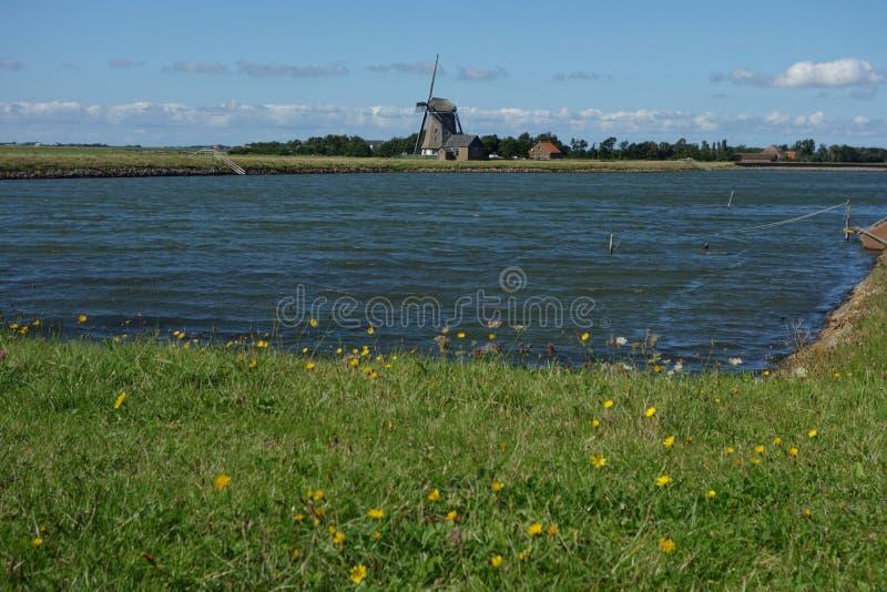 Windmolen in Holland royalty-vrije stock fotografie