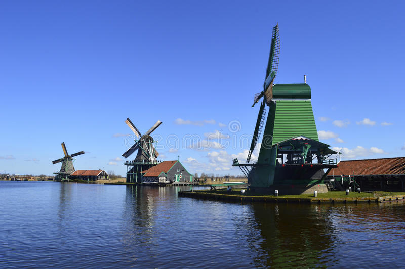 Windmolen in Holland stock afbeelding