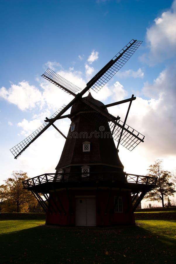 Windmolen in Kopenhagen royalty-vrije stock fotografie
