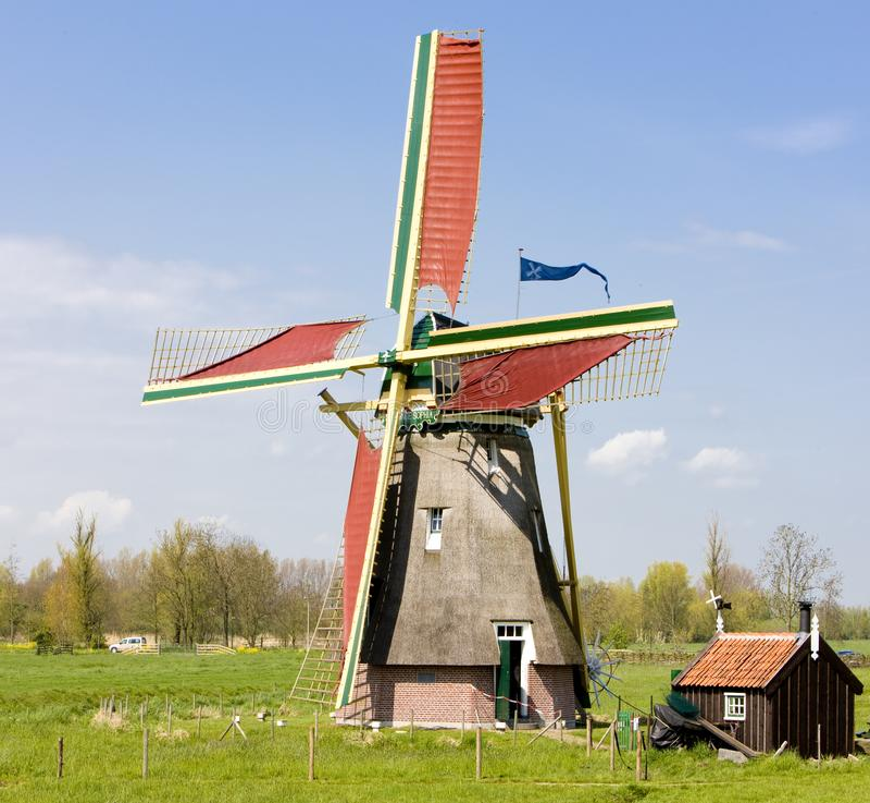 windmolen, Ooievaarsdorp, Nederland royalty-vrije stock foto's