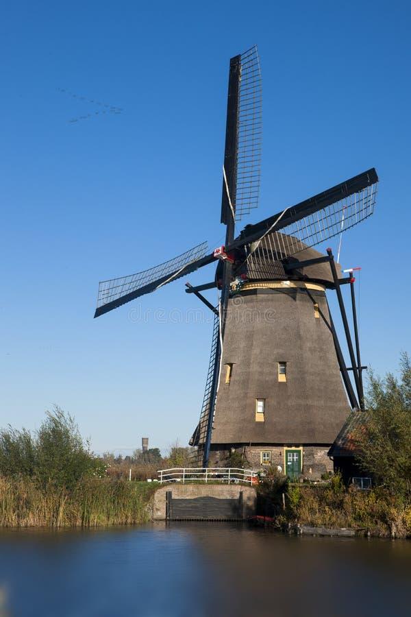 Windmolen op Kinderdijk, Nederland royalty-vrije stock fotografie
