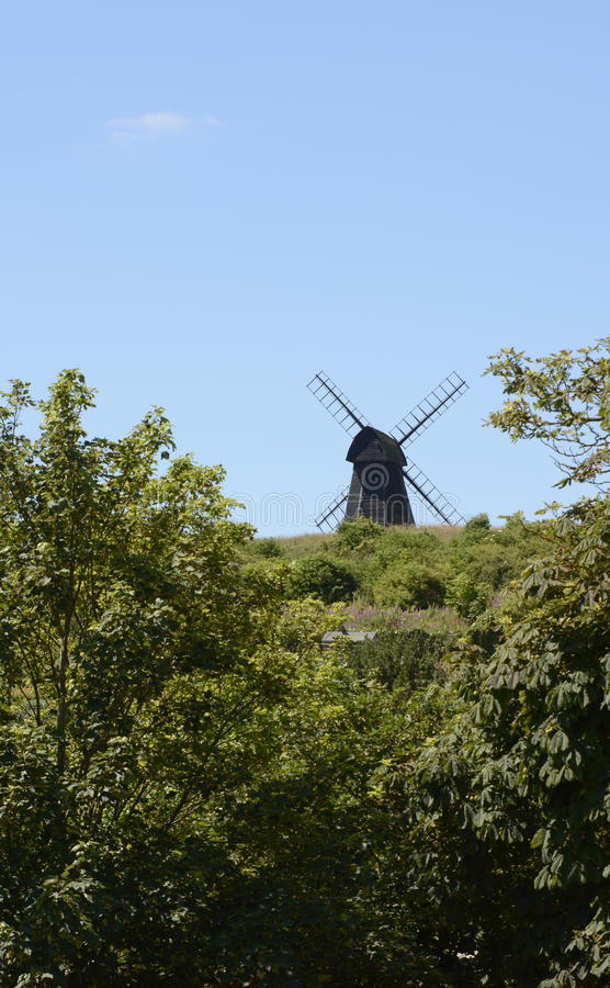 Windmolen in Rottingdean sussex engeland royalty-vrije stock fotografie