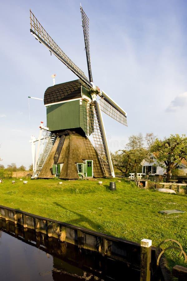 windmolen, Tienhoven, Nederland royalty-vrije stock foto