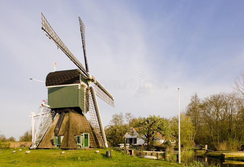 windmolen, Tienhoven, Nederland stock foto