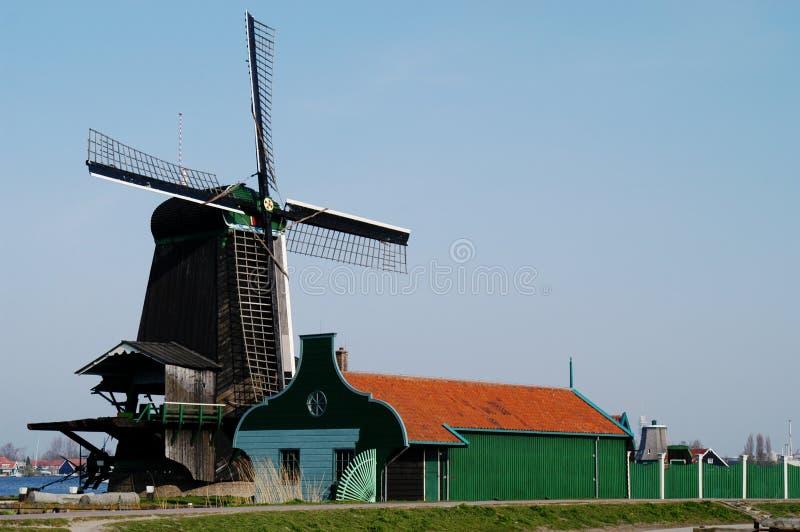 Windmolen in Zaanse Schans, Holland stock foto's