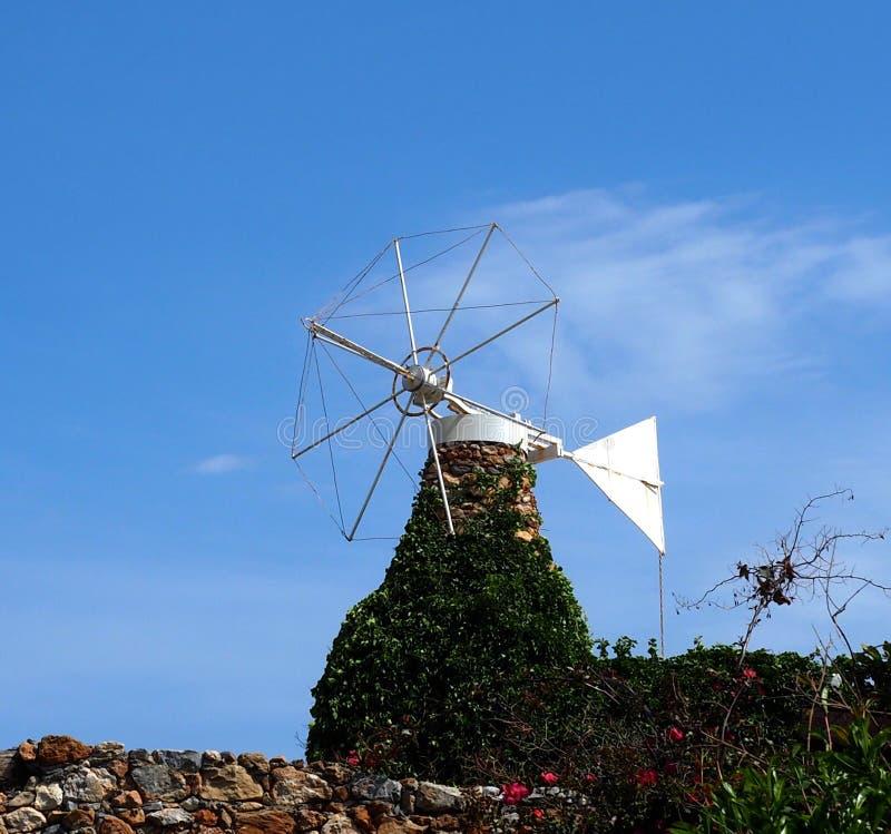 Windmolen zonder Zeilen Kreta Griekenland stock afbeeldingen