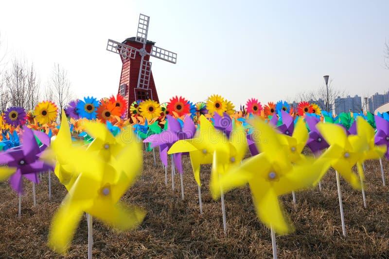 Windmolenfestival royalty-vrije stock foto