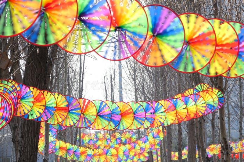 Windmolenfestival royalty-vrije stock foto's