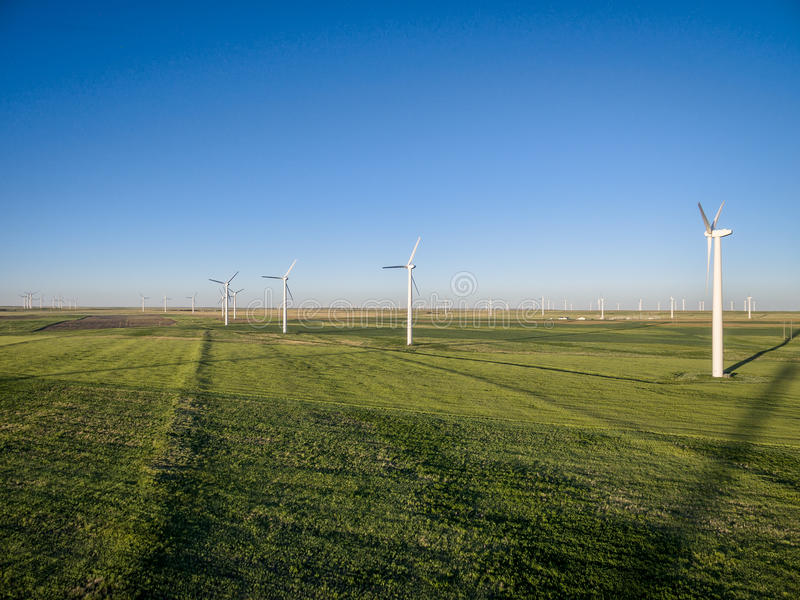 Windmolenlandbouwbedrijf bij Pawnee-Weide royalty-vrije stock foto