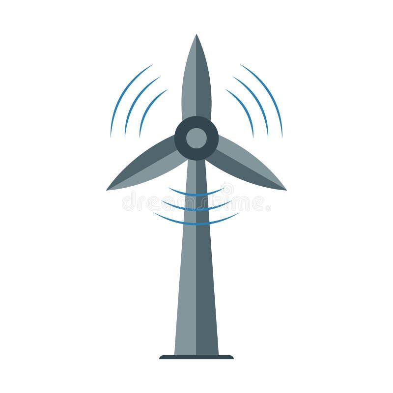 Windmolenpictogram, Ecologiesymbool, alternatieve energiemacht vector illustratie