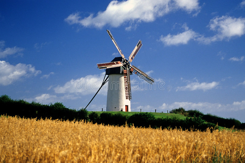 Windmolens 1 van Skerries stock fotografie
