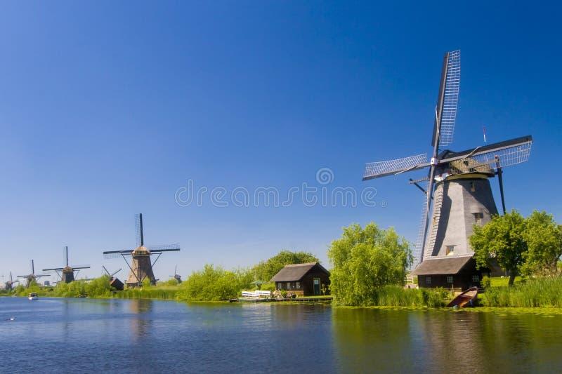 Windmolens 2 van Kinderdijk royalty-vrije stock foto