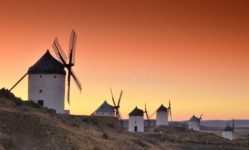 Windmolens in Consuegra, Spanje. stock afbeelding