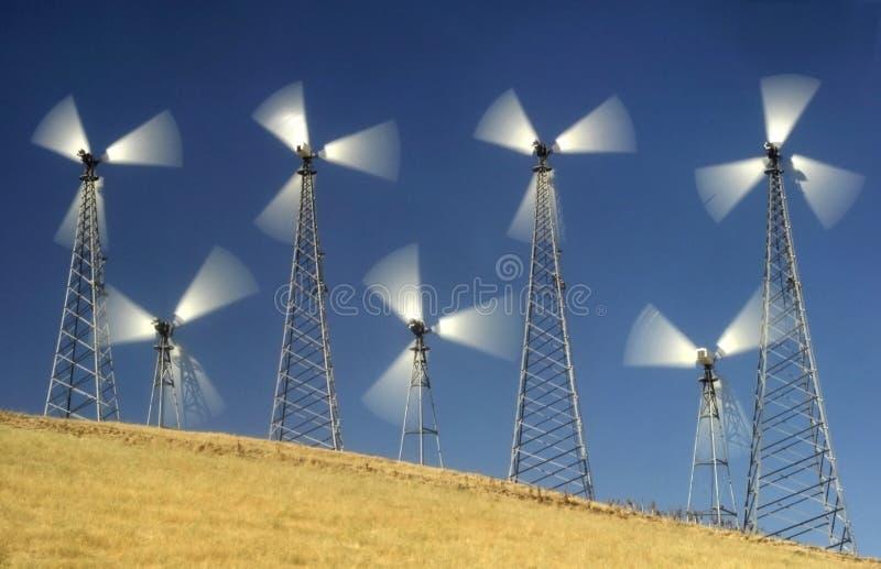 Windmolens II stock foto's