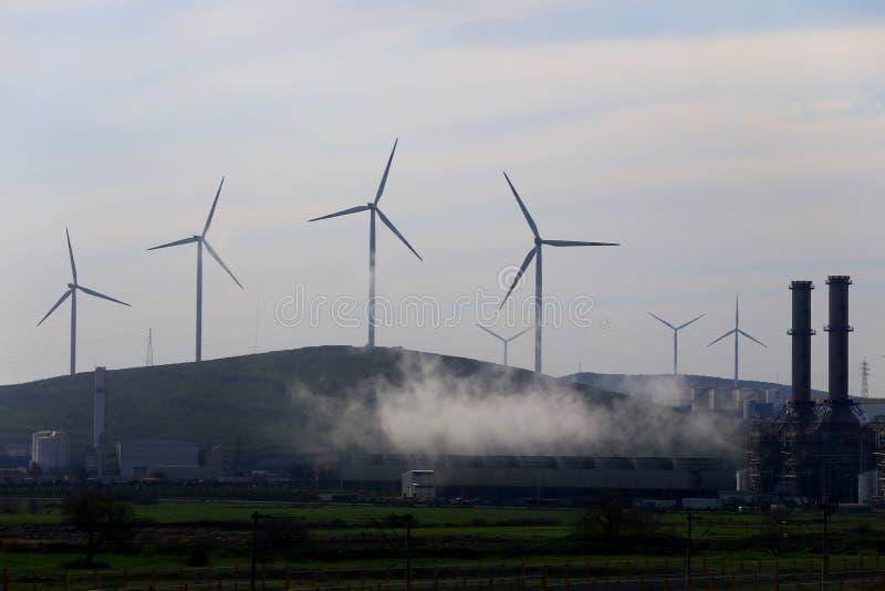 Windmolens op de Berg stock afbeelding