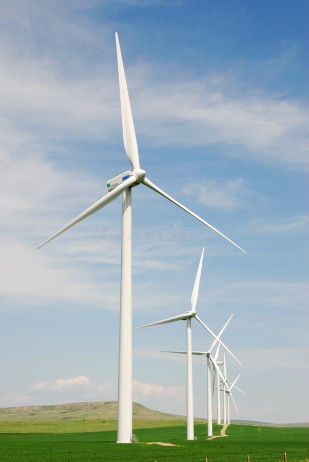 Windmolens op korrelgebied royalty-vrije stock afbeelding