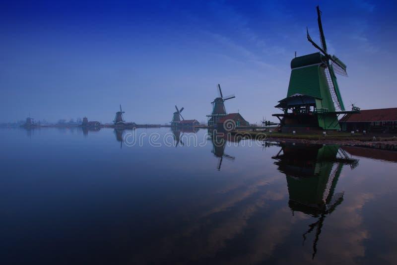 Windmolens van Zaanse Schans, Zaandam stock afbeeldingen