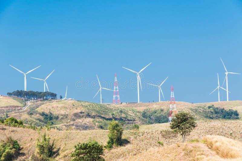 Windmolens voor Electric Power-Productie royalty-vrije stock fotografie