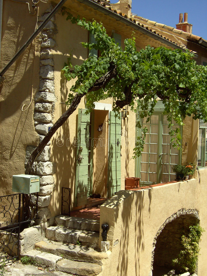 Window 10. A typical street in provence, France stock image