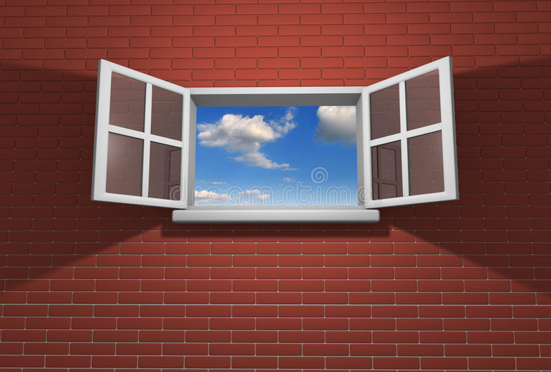 Download Window stock illustration. Image of blue, idea, open - 21411007