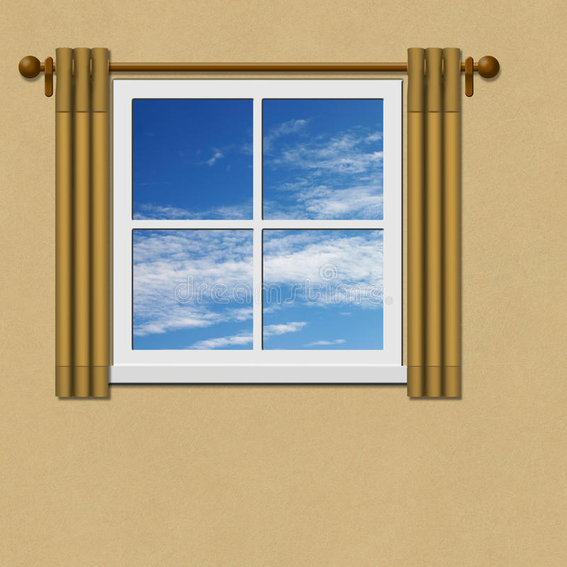 Download Window stock illustration. Image of drapes, glazed, interior - 22728389