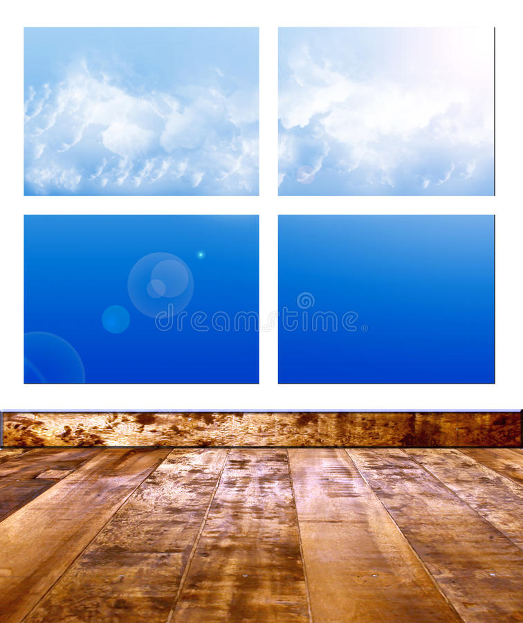 Download Window stock illustration. Image of climate, heaven, landscape - 9680875