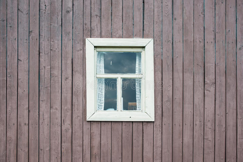 Window, aged rough grungy vintage boards Old stock photo