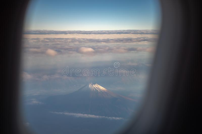 The window of the airplane. royalty free stock photos