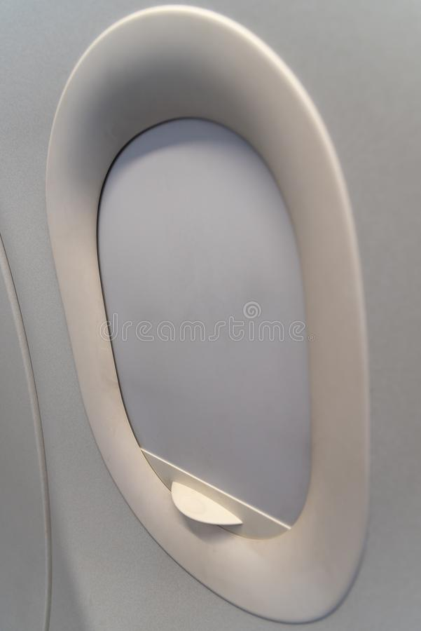 The window of the airplane. royalty free stock images