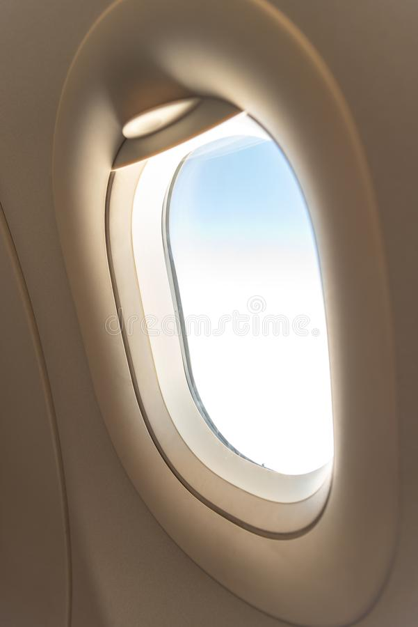 The window of the airplane. royalty free stock photography