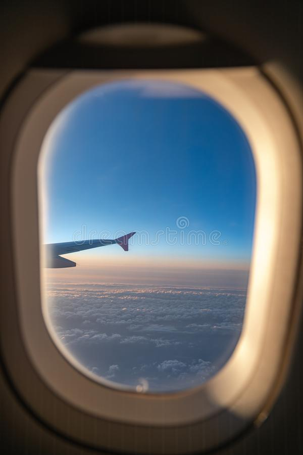 The window of the airplane royalty free stock image