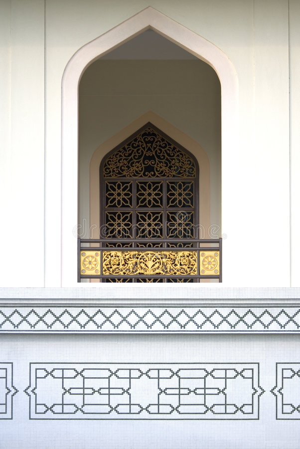 Download Window at Al-Azim Mosque stock image. Image of building - 2107187