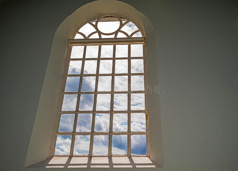 Window of an ancient church royalty free stock photo