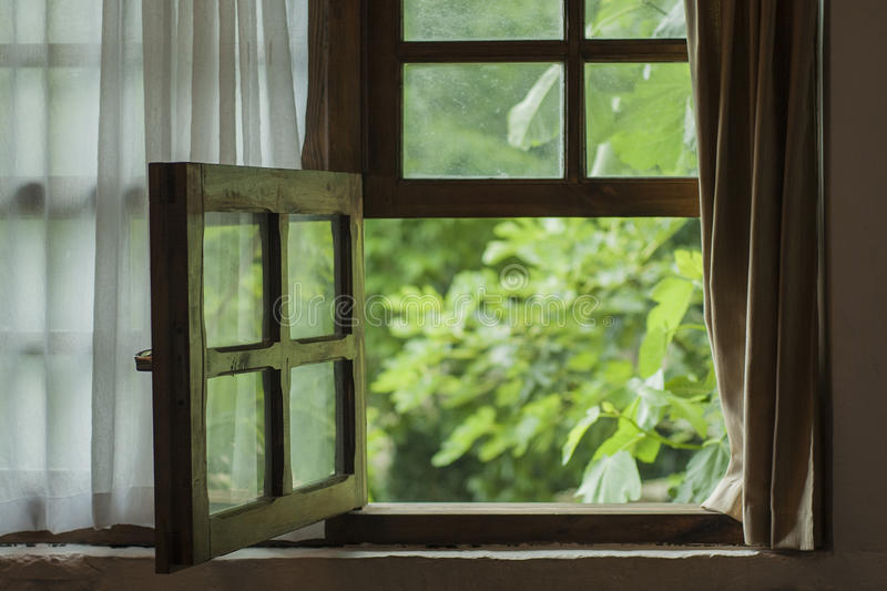 Window. A window in the ancient palace royalty free stock photos