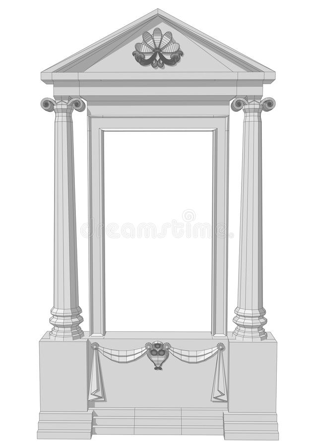 Window aperture with columns royalty free illustration