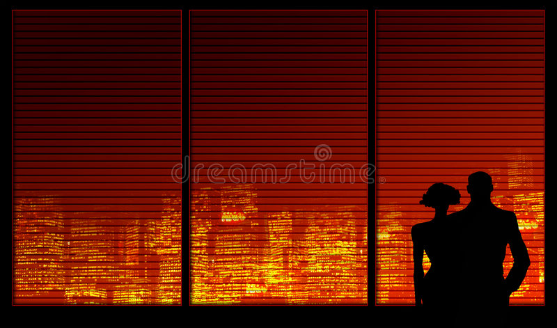 Window background series. A couple stock illustration