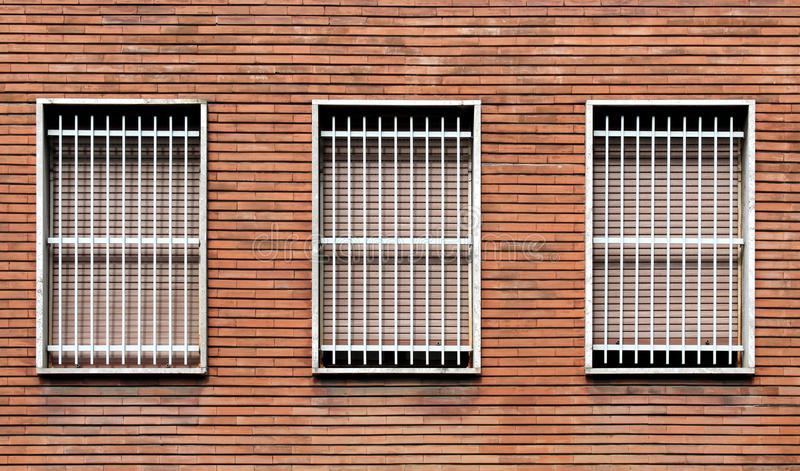 Window bars and closed windows royalty free stock image